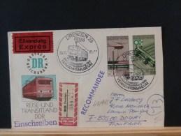 47/996  LETTRE       DDR  OBL. - Trains
