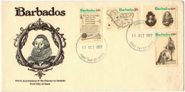 BARBADOS - 1977 - 350th Anniversary Of The Charter To Carlisle - FDC - Barbados (1966-...)