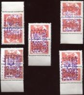 1994 Ukraine Local Post; Boyarka TRIDENT Overprints On 3K 1976 USSR Defnitives Mint Not Hinged Set Of 5 Pairs Of  Stamps - Ukraine