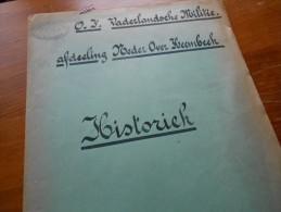 /Militair Neder Over Heembeek Brussel  Resistance Weerstand 1944/45  Liste Des Membres  4blz - Historical Documents