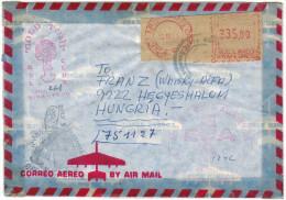 PERU - 1980 - Red Cancel - Correo Aereo, Airmail - Viaggiata Da Miraflores, Lima Per Hegyeshalom, Hungary - Peru