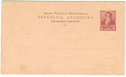 ARGENTINA - ARGENTINE - 6 Centavos - Carte Postale - Postal Card - Intero Postale - Entier Postal - Postal Stationery... - Interi Postali