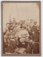 Groupe de Personnes, Marins...???...(photo 9x12)