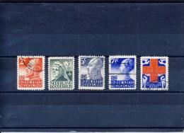 NVPH Nr. 203 T/m 207 Gebruikt (CW = € 35,-) - Period 1891-1948 (Wilhelmina)
