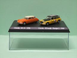 Coffret Lot De 2 NOREV DS CITROEN ID 19 1958 Et ID Break Europe 1 1968 - HO 1/87 - Véhicules Routiers