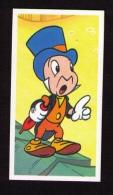 Petite Image (trade Card) Thé Brooke Bond, « The Magical World Of Disney », 1989, N°4, Jiminy Cricket (Pinocchio) - Tea & Coffee Manufacturers