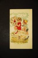 Chromos Et Images, Chromos, Modern' Teinturerie J PERRIAT 92 Levallois Perret Enfant Petit Couple Fille Avec Ombrelle - Trade Cards