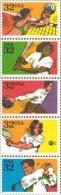 1995 USA Recreational Sport Stamps Sc#2961-65 2965a Volleyball Softball Bowling Tennis Golf - Bowls