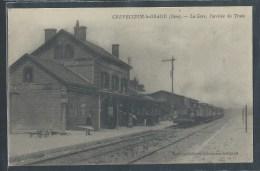 - CPA 60 - Crèvecoeur-le-Grand, La Gare - L'arrivée Du Train - Crevecoeur Le Grand