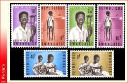 Rwanda 0070/75** Enfants  MNH