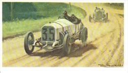 C. Lautenschlager  -  Mercedes  (1908) Grand Prix  -  Mobil Carte De Collection  -  Illustrateur Roy Nockolds - Automobile - F1
