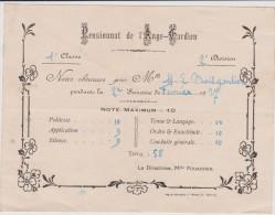 Vieux  Papier : Oren :  DOMFRONT :  Pensionat De L Ange  Gardien   1927 - Vieux Papiers