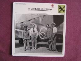 LE GLOAN    FICHE AVION Avec Description  Aircraft Aviation - Avions