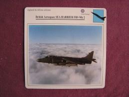 BRITISH AEROSPACE Sea Harrier FRS MK 2   FICHE AVION Avec Description  Aircraft Aviation - Avions