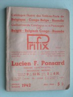 Geillustreerde CATALOGUS Van België - Belgisch CONGO - RUANDA Prifix 1942 ( Zie/voir Foto´s Voor/pour Détails ) !! - België