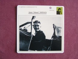 JAMES JOHNNIE JOHNSON    FICHE AVION Avec Description  Aircraft Aviation - Avions