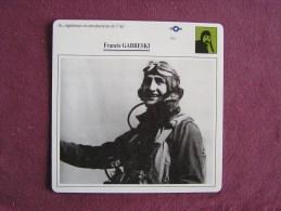 FRANCIS GABRESKI    FICHE AVION Avec Description  Aircraft Aviation - Avions