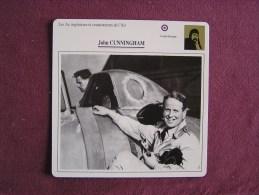 JOHN CUNNINGHAM     FICHE AVION Avec Description  Aircraft Aviation - Avions