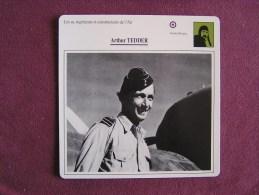 ARTHUR TEDDER     FICHE AVION Avec Description  Aircraft Aviation - Avions