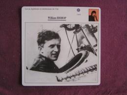 WILLIAM BISHOP     FICHE AVION Avec Description  Aircraft Aviation - Vliegtuigen