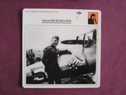 EDWARD RICKENBACKER     FICHE AVION Avec Description  Aircraft Aviation - Avions