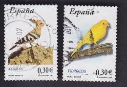 Espagne. Oiseaux: Huppe Fasciée 3902, Canari 3916 - Oiseaux