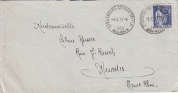 Env Affr. 368 Obl STRASBOURG KOENIGSHOFFEN Du 17.5.39 - Cachet Autoplan - Marcophilie (Lettres)