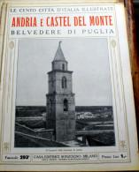 """ITALIA - 1924/1929 - """"LE 100 CITTA' D'ITALIA"""" ANDRIA E CASEL DEL MONTE FASCICOLO 293  COMPLETO - Livres, BD, Revues"""
