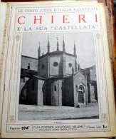 """ITALIA - 1924/1929 - """"LE 100 CITTA' D'ITALIA"""" CHIERI FASCICOLO 274 COMPLETO - Old Books"""