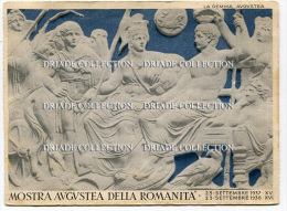CARTOLINA MOSTRA AUGUSTEA DELLA ROMANITà ANNO 1937 1938 BANCO DI NAPOLI - Mostre, Esposizioni