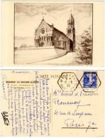 Metzeral, Monument Du Souvenir Alsacien, Eglise Commémorative ( Cachet Hexagonal ) - France