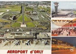 CPM Aéroport De Paris-Orly Vue Aérienne De L'aérogare Sud Vers Paris Tour De Contrôle - Aerodrome