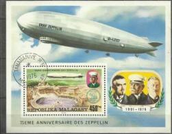 Malagasy - 1976 Zeppelin S/sheet CTO  Sc C160 - Madagascar (1960-...)