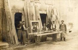 CPA Photo atelier de menuiserie carte demandant du travail et envoy�e � M. PIERRE Rue des Oustalots � OLORON STE MARIE