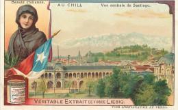 CHROMO LIEBIG - Au Chili - Beauté Chilienne Vue Centrale De Santiago - Série Belge N° 920 - Année 1908 - Liebig