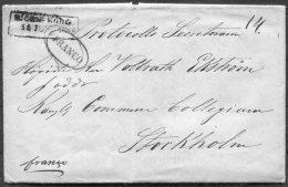 1856 Finland Bjorneborg FRANCO Entire -  Stockholm Sweden - Finland