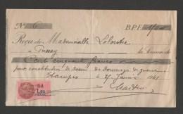 """France Fiscal N° 194  DA 1,20 Franc - 25 Janvier 1941 Sur Document  """"Pour Constitution Dossier De  Dommages De Guerre """" - Fiscale Zegels"""