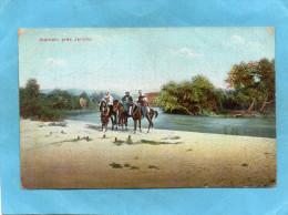PALESTINE-rives Du Jourdain -3 Cavaliers Près Jéricho- - A Voyagé En 1916 - Palestine