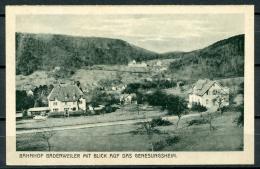GERMANY POSTCARD BAHNHOF BADENWEILER MIT BLICK AUF DAS GENESUNGSHEIM EMIL HARTMANN MANNHEIM - Germany