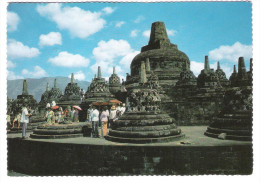 Indonesia - Indonesien - The Upper Circular Terrace Of The Borobudor Temple - 3x Nice Stamps - Indonesia