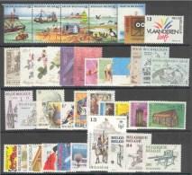 BELGIE 1988 Xx VOLLEDIG JAAR / L'ANNEE COMPLETE COB . 2273/2311 - 39 W/V + 2 BL - COTE: 70.00 EURO - Jahressätze