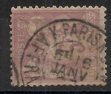 K PARIS K AFFRANCHISSEMENTS Sur 5F SAGE. Peu Commun ! - 1876-1898 Sage (Type II)