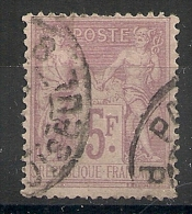 PARIS 8 R. DE CHOISEUL Sur 5F Sage. - 1876-1898 Sage (Type II)