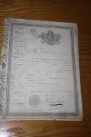 1827 - PASSEPORT ROYAL DE TROYES - AUBE - A LILLE - NORD - ORIGINAIRE DE TROYES - AUBE - Vecchi Documenti