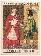 """Image Page 2 De L´album """"L´Europe"""". 1933. Chocolat Pupier. France Richelieu Et Louis XIII - Chocolate"""
