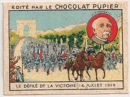 """Image Page 2 De L´album """"L´Europe"""". 1933. Chocolat Pupier. France Défilé De La Victoire 14 Juillet 1919 Clémenceau - Chocolate"""