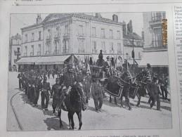 1905 Dijon  Demanagement De Depouilles De Soldtats  Morts En  1870  + Metz + Saint Petersbourg  Peterhof Russie - Vieux Papiers