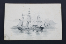 Old Boat Illustrated Postcard - Ship/ Boat - Barcos