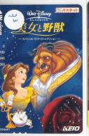 Carte Prépayée Japon (73) DISNEY JAPAN * BEAUTY AND THE BEAST * PREPAID CARD * FILM MOVIE CINEMA KINO - Disney