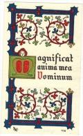 IMAGE PIEUSE RELIGIEUSE HOLY CARD SANTINI : Magnificat Anima Mea Vominum - BEZIERS Cours Fénélon MAS Monique - Imágenes Religiosas